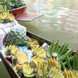 Stock Photo: Fruit floating markets boat