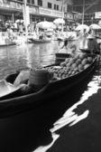 Fruit floating markets boat — Stockfoto