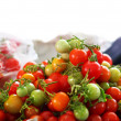 Stock Photo: Fresh tomatoes in market
