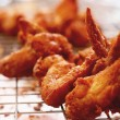 Stock Photo: Close up of fried chicken