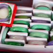 Stock Photo: Jade bracelets at market