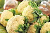 Close-up cauliflower vegetable in market — Stock Photo
