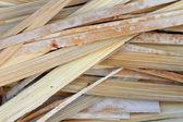 Kleverige rijst geroosterd in bamboe — Stockfoto