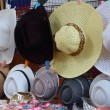 Stock Photo: Hats for sale at Damnoen Saduak Floating Market - Thailand.
