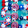 Stock Photo: Hairpins sell at market