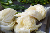Vegetables boiled cabbage — Stock Photo