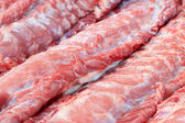 Streaky pork textured - in the market  — Stock Photo