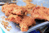 Fried chicken at market — Stock Photo
