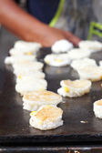 Thailand dessert, Mix flour, coconut and then fried. — Stock Photo