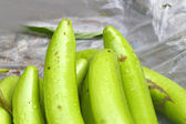 Green long eggplants in the market. — Stock Photo
