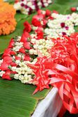 A jasmine garland markets — Stock Photo
