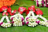 A jasmine garland markets — Stock Photo