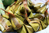 Coconut in banana leaves - Dessert Thailand — Stock Photo