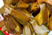 Кокос в банановые листья - Таиланд десерт — Стоковое фото