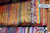 Striped fabrics for sarongs Thailand.  — Stock Photo