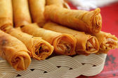 Fried spring rolls in the kitchen. — Stock Photo
