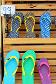 Shop rubber shoes slipper — Stockfoto