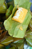 Sticky rice wrapped in banana leaves - dessert Thailand. — Stock Photo