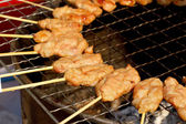 Bar-B-Q or BBQ grill of meat — Stock Photo