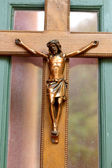 Solid Brass crucifix of Jesus  — Stock Photo