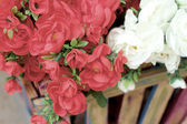 Beautiful artificial the flowers — Stock Photo