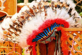 Native american indian chief headdress — 图库照片
