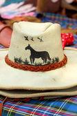 Kožený kovbojský klobouky na prodej — Stock fotografie
