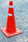 Traffic cone on the road — Stock Photo