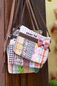 Shop handmade woven bag — Stock Photo