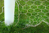 Close up soccer nets goal football — Photo