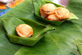Coconut milk mix sugar and flour. - Kind of Thai sweetmeat — Stock Photo