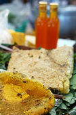 Close up of fresh honey in honeycomb — ストック写真