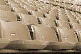 Stadium seats for sport football — Стоковое фото