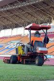 Mowers in the stadium — Stock Photo