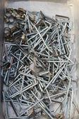 Een veel set echte gebruikte roestvast staal steekringsleutels — Stockfoto