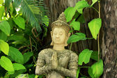 Thailand hands statue respect in garden nature. — Stock Photo