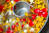 Floating jasmine - the Songkran Festival. — Stock Photo