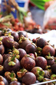 Mangosteen in the market — Stock Photo