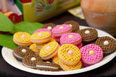 Cookies colorful fake — Stock Photo