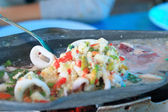 Squid sauce soup is Asia food.  — Stock Photo