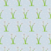 Seamless illustration of dandelions on background — Stock Vector