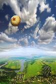 Parachutist — Stock Photo