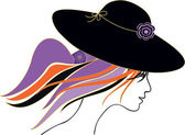 Girl with hat — Stock Vector