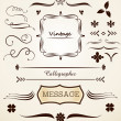 Calligraphic and vintage page decoration - Stockvektor
