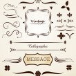 Calligraphic and vintage page decoration - Stock vektor