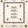 Royalty-Free Stock Vector Image: Text dividers and decorations