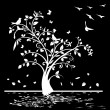 Black and white tree — Stock Vector #28641145