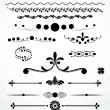 Dividers and   decorations, Black and White Collection — Stock Vector