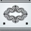 Stock Vector: Lace ornamental frame and borders