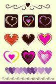 любовь сердца — Cтоковый вектор